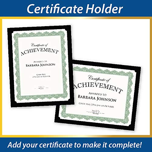 - Geographics Black Certificate Holder, 9.5
