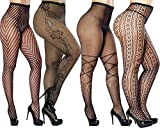 Womens Fishnet Tights Pantyhose Fishnet Stockings Hollow Stretchy Tights