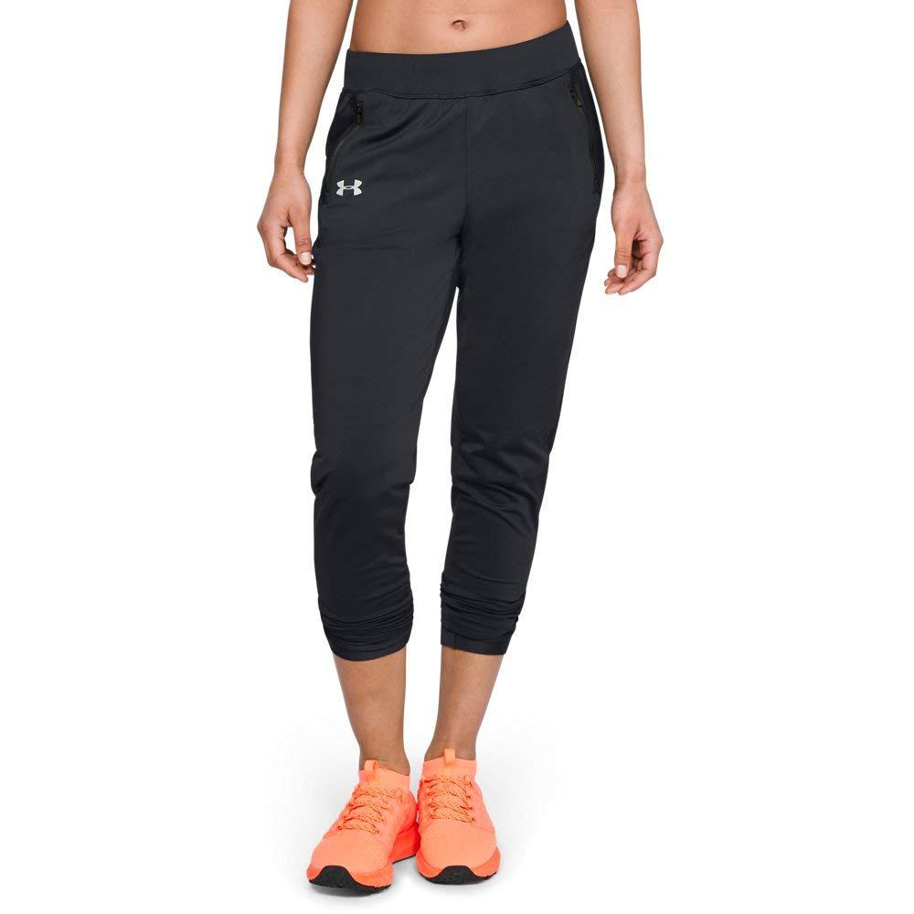 Under Armour Women's Coldgear Run Pant, Black (001)/Reflective, Small