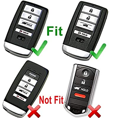 Black TPU Key Fob Cover Case Remote Holder Skin Glove for Acura RDX MDX ILX TLX RLX 4 Buttons Remote Key (no engine remote start): Automotive