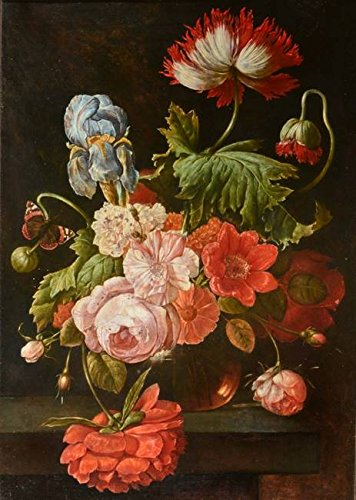 Wall Art Print Entitled 19TH Century Dutch School A Glass Vase of Mixed Fl by Celestial Images | 11 x 15