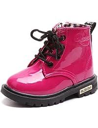 Boy's Girl's Waterproof Side Zipper Lace-Up Ankle Boots (Toddler/Little Kid/Big Kid)