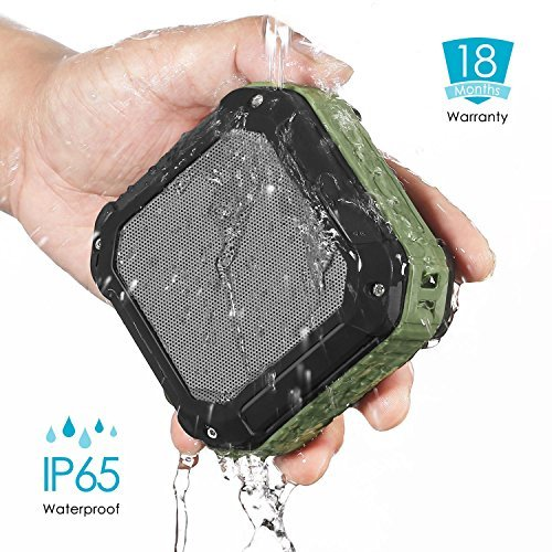 CRDC Life S100C-A11HX4 Waterproof IP65 Bluetooth 4.0 Speaker Outdoor Portable Wireless A2DP Sport MP3 Music Phone Speaker - Olive