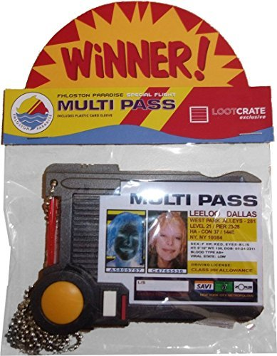 Fifth Element Leeloo Dallas Prop Replica Multi Pass by QXM (Leeloo 5th Element)