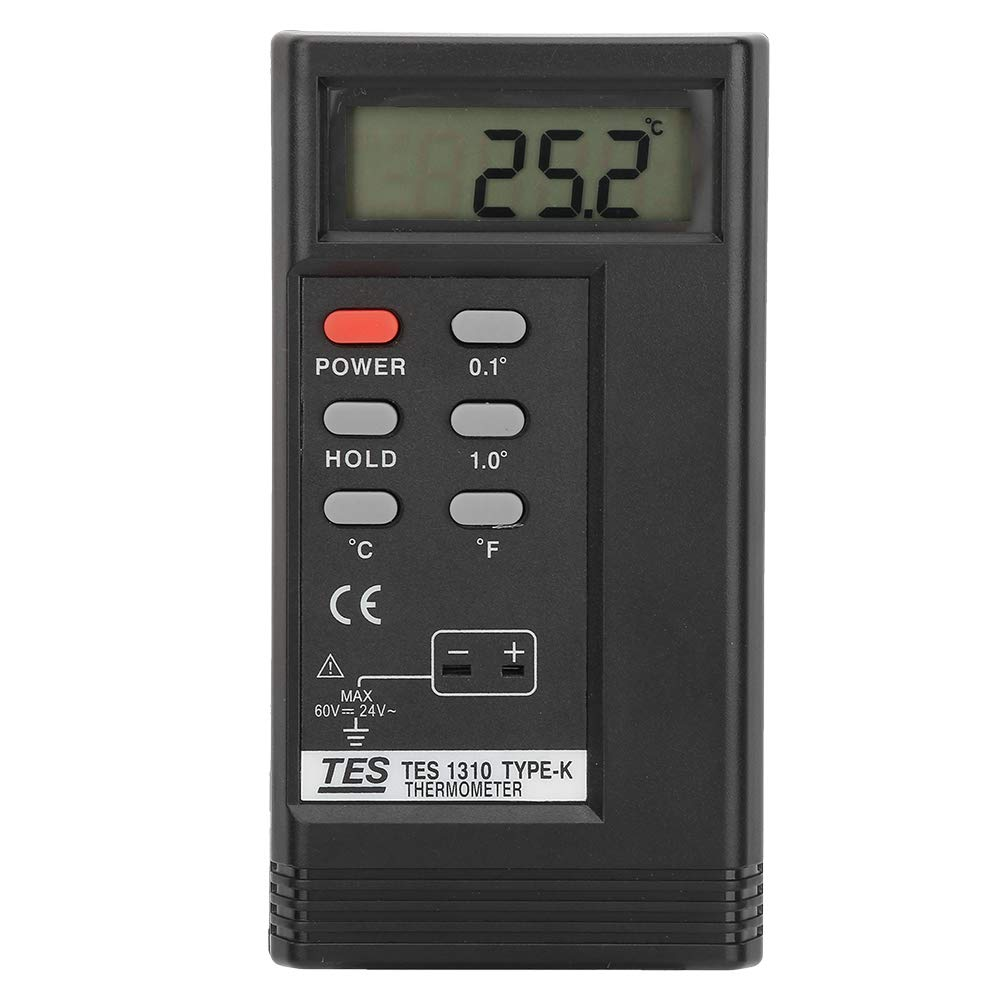 -50 to 500℃ HERCHR Digital Temperature Controller Thermostat with Mini K Type Sensor Surface Thermocouple Probe OE TES-1310 with LCD digital display