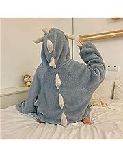 Engpai Winter Koraal Fleece Onesies voor Volwassenen Prinses Stijl Kan Worn gedragen Buiten Leuke Nachtjapon Nachtkleding Vrouwen Hooded Home Service