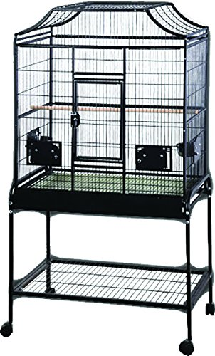 A&E Cage Co. 32' x 21' x 61' Elegant Flight Cage, Black MA3221FL Black