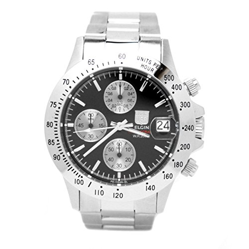 (Elgin (ELGIN) chronograph diver's watch black FK1184S-B)