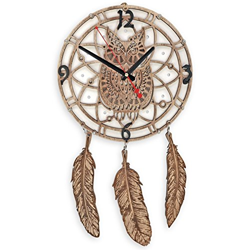 Birch Metal Bed - Dreamcatcher large wall clock White Owl dream catcher large gypsy boho bed decor gypsy wedding decor large dreamcatcher dreamcatcher boho