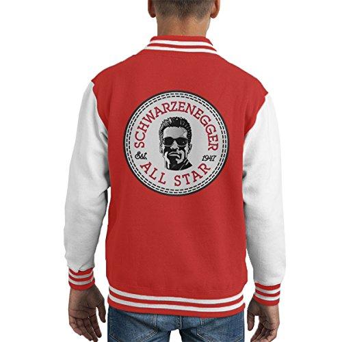 9a11ea098d6d Arnold Schwarzenegger All Star Converse Logo Kid s Varsity Jacket   Amazon.de  Bekleidung