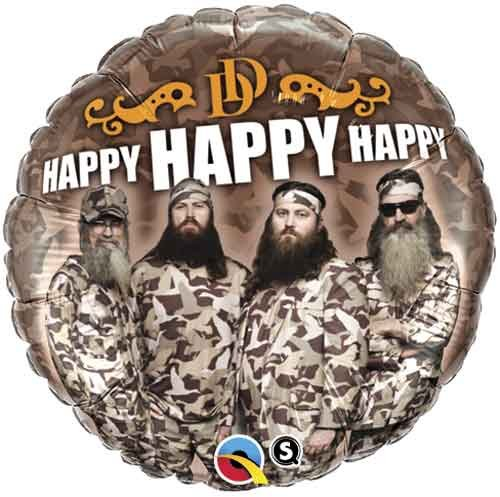 Duck Dynasty Happy Happy Happy Balloon Camo Camouflage 18