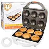 Cheap MasterChef Mini Pie and Quiche Maker- Pie Baker Cooks 6 Small Pies and Quiches in Minutes- Non-stick Cooker w Dough Cutting Circle for Easy Dough Measurement