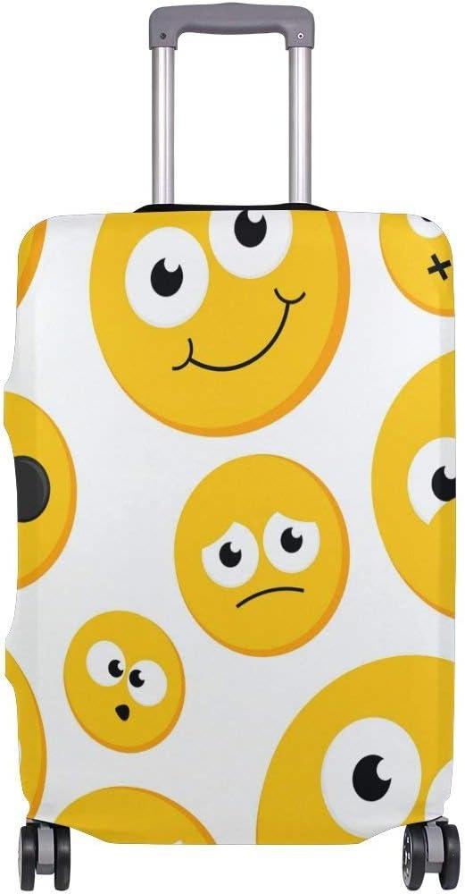 Maleta de Viaje Emoji Travelers Choice Amarilla con Ruedas giratorias Maleta con Equipaje de 24 Pulgadas