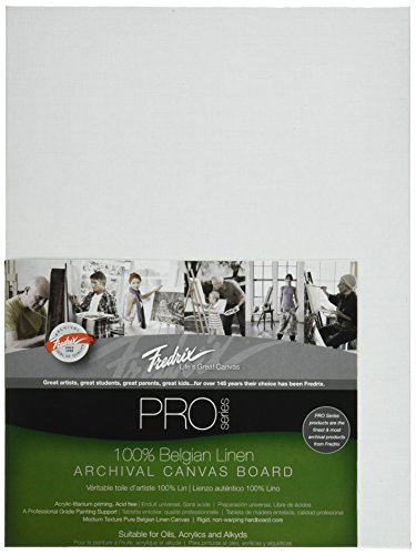 Tara Materials Fredrix 9x12 Linen Archival Canvas Board