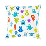 Monsters Aliens Print Children's 18' Hollowfibre Filled Scatter Cushion with Zip Cover
