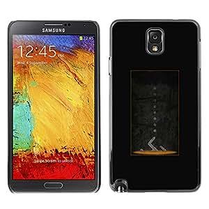 Samsung Note 3 N9000 - Metal de aluminio y de plástico duro Caja del teléfono - Negro - Portal Design