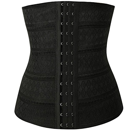 OSAYES Waist Cincher Corsé Fajas Reductoras de Cinturón Firme de Formación Underbust Bustier para Mujer en Negro Negro por OSAYES