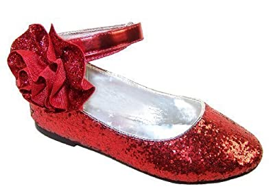 Mädchen Glitzer Ballerinas Dorothy Stil für Party - Rot, Synthetik ... 11b0c961ff