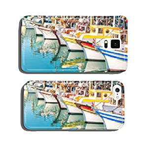 Colorful sailing boats at Fishermans Wharf of San Francisco cell phone cover case Samsung S6