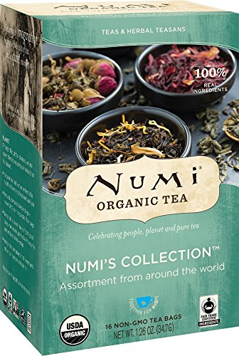 Numi Organic Tea Variety Pack - Numi's Collection, Assorted Full Leaf Tea and Teasan, 16 Count Tea Bags (Spearmint Assorted)