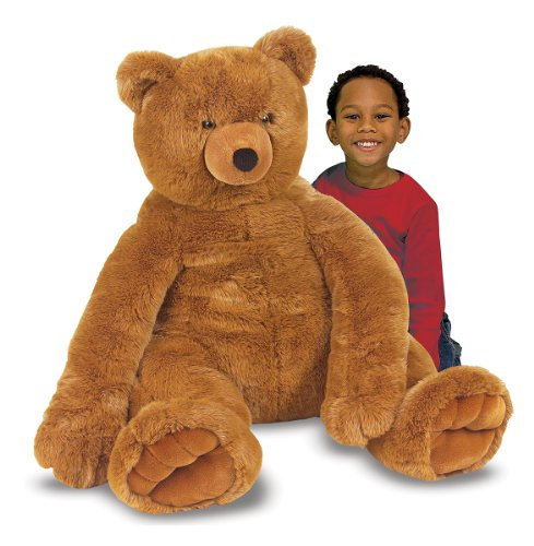 Jumbo Teddy Plush Bear - Melissa & Doug Jumbo Brown Teddy Bear