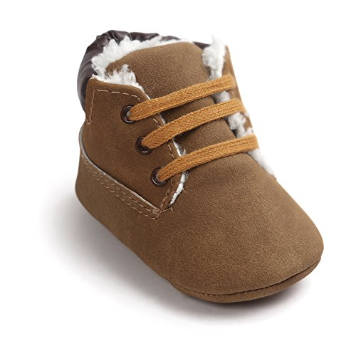 leap frogInfant Boy Classic Suede Bootie - Zapatillas altas Bebé-Niñas Winter Deep Brown