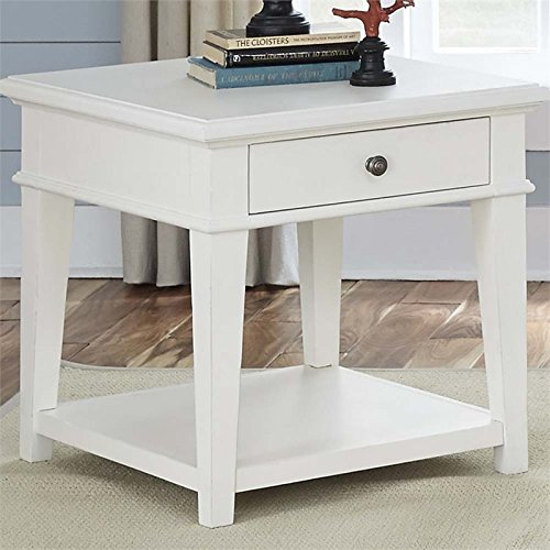 Liberty Furniture Harbor View End Table in Linen