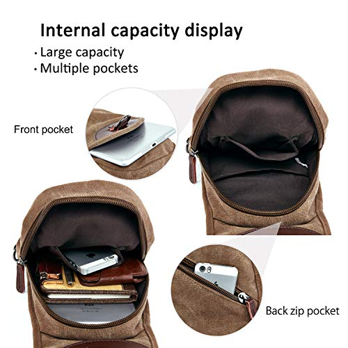 Armygreen Gym Sport Canvas Vintage Khaki Inch Unisex Outdoor resistant Sling Shoulder Wear Chest Riding Crossbody Ipad Bag 7 9 Fandare Travel UnH4XFpq4
