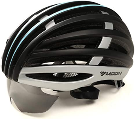 M[55-58Cm] Casco Bicicleta con Gafas,Ajustable Seguridad ...