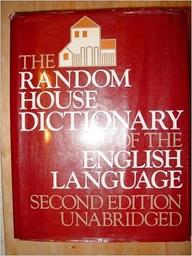 Amazon.com: The Random House Dictionary of the English Language, 2nd ...