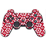 Fun Flowers Pattern Bold PS3 Dual Shock wireless controller Vinyl Decal Sticker Skin by Debbie's Designs