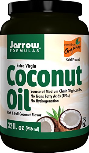 Jarrow Formulas Coconut Oil 100% Organic  Extra Virgin, Supports Cardiovascular Health, 32 fl. (Formulas Organic Coconut Oil)