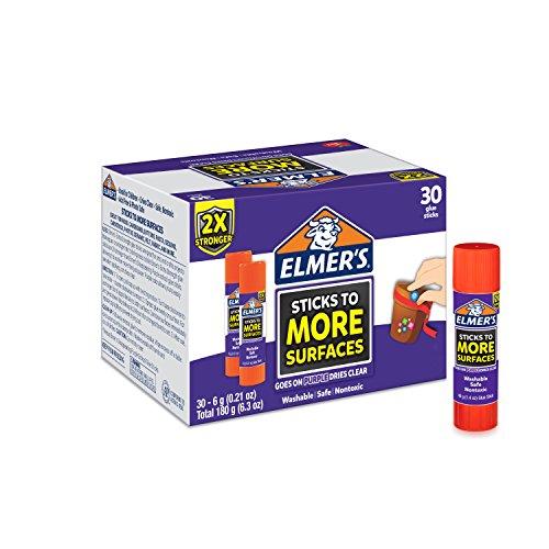 Elmer's Extra Strength School Glue Sticks, Washable, 6 Gram, 30 Count by Elmer's