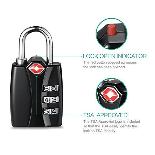 ORIA Luggage Lock, Travel Lock, TSA Approved Luggage Locks ...