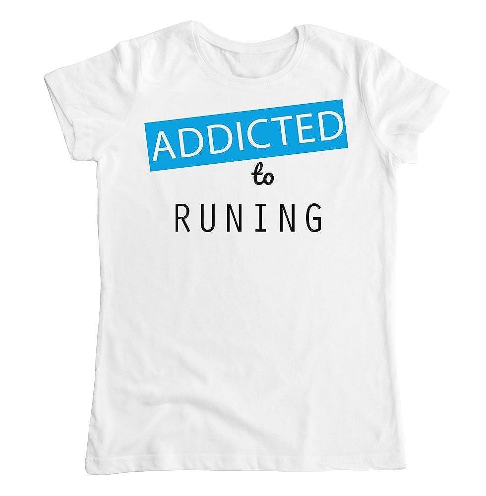 graphke Addicted to Running Womens T-Shirt