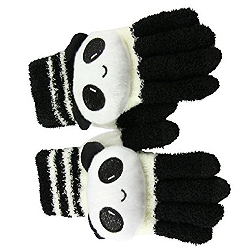 Rhumen Womens Girls Cute Animal Winter Warm Wool Touchscreen Gloves Mitten Texting Gloves for Electronic Devices iPhone/iPad/Tablet/Android Phones, Best Present for Xmas Day/Birthday/New Year (panda)
