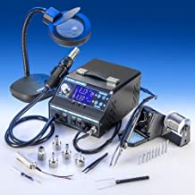 """4 IN 1 """"X-TRONIC"""" MODEL #9020-XTS HOT AIR REWORK & SOLDERING IRON STATION, FUME EXTRACTOR & VACUUM PICKUP TOOL - 5 Hot Air Nozzles - 10 Asst. Solder Tips - 1 Extra Hot Air & Soldering Iron Heating Element - Pinpoint Tweezers - 1 5X MAGNIFYING LAMP!!! by X-TRONIC"""