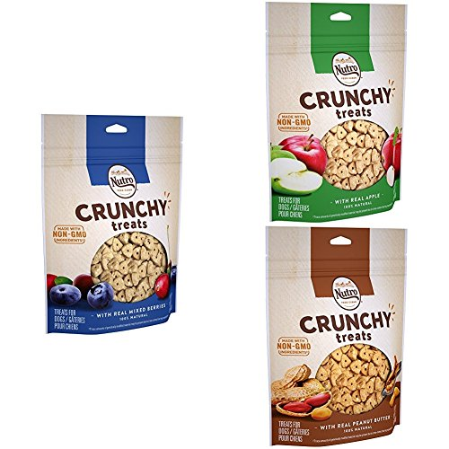 (Nutro Crunchy Dog Treats Peanut Butter, Apple & Mixed Berry, 16 Oz. Bag (Pack Of 3))