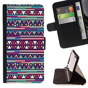 Inca Azteca Modelo retro- Modelo colorido cuero de la carpeta del tirón del caso cubierta piel Holster Funda protecció Para Apple iPhone 5C