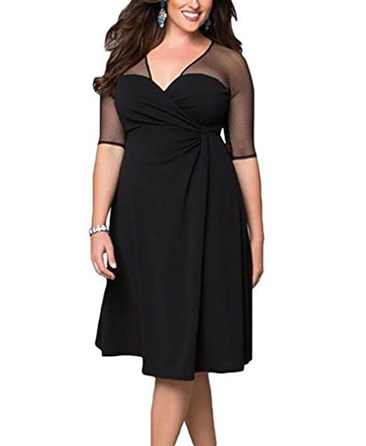 5abd7737fc3 Herrew Women s Sexy Plus Size Reign Maxi Dress (Black ...