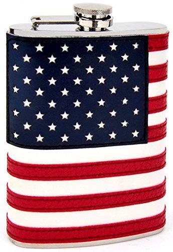 8oz Stitched American Flag -