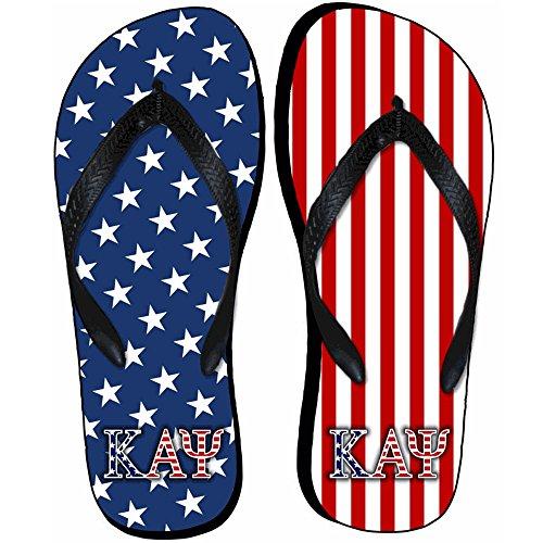 Kappa-alfa Psi Amerikanska Flaggan Flip Flops