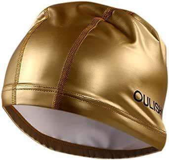 Adult Swimming Hat Elastic Flexible Durable Ladies Mens Swim Cap
