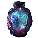 Little Hunter Plus Size Unisex 3D Digital Print Galaxy Pullover Hoodies Pockets Sweatshirt Reviews