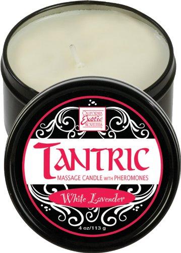 California Exotic Novelties tantrique soja Bougie de massage avec des phéromones Blanc Lavande, Noir