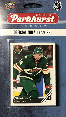 Minnesota Wild 2018 2019 Upper Deck PARKHURST Series Factory Sealed Team Set with Nino Niederreiter, Zach Parise and Eric Staal Plus 7 Others ()