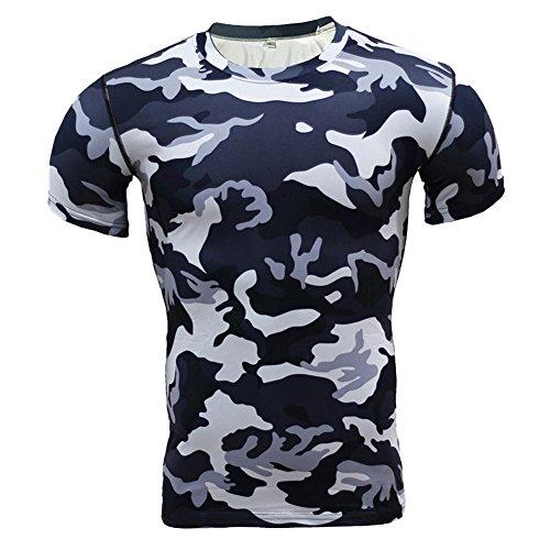 Top Manches Sport Courtes Base T Layer Gym 7 Training De Fitness Homme Compression Style shirt Pour Missmao qYvt40