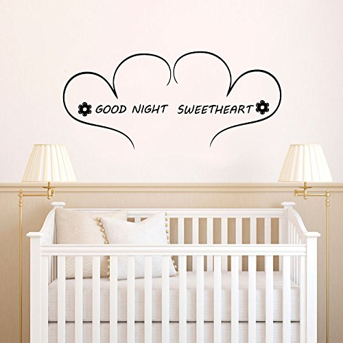 Goodnight Sweetheart Vinyl Wall Words Decal Sticker ()