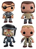 Funko POP! The Walking Dead - Vinyl Figures - Series 2 SET OF 4 (PY Rick, Merle, Governor & Zombie)