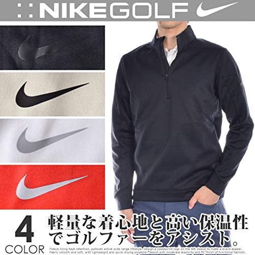 Pullover Mens Golf - NIKE Therma Repel Top Half Zip OLC Golf Pullover 2018 White/Flat Silver Medium